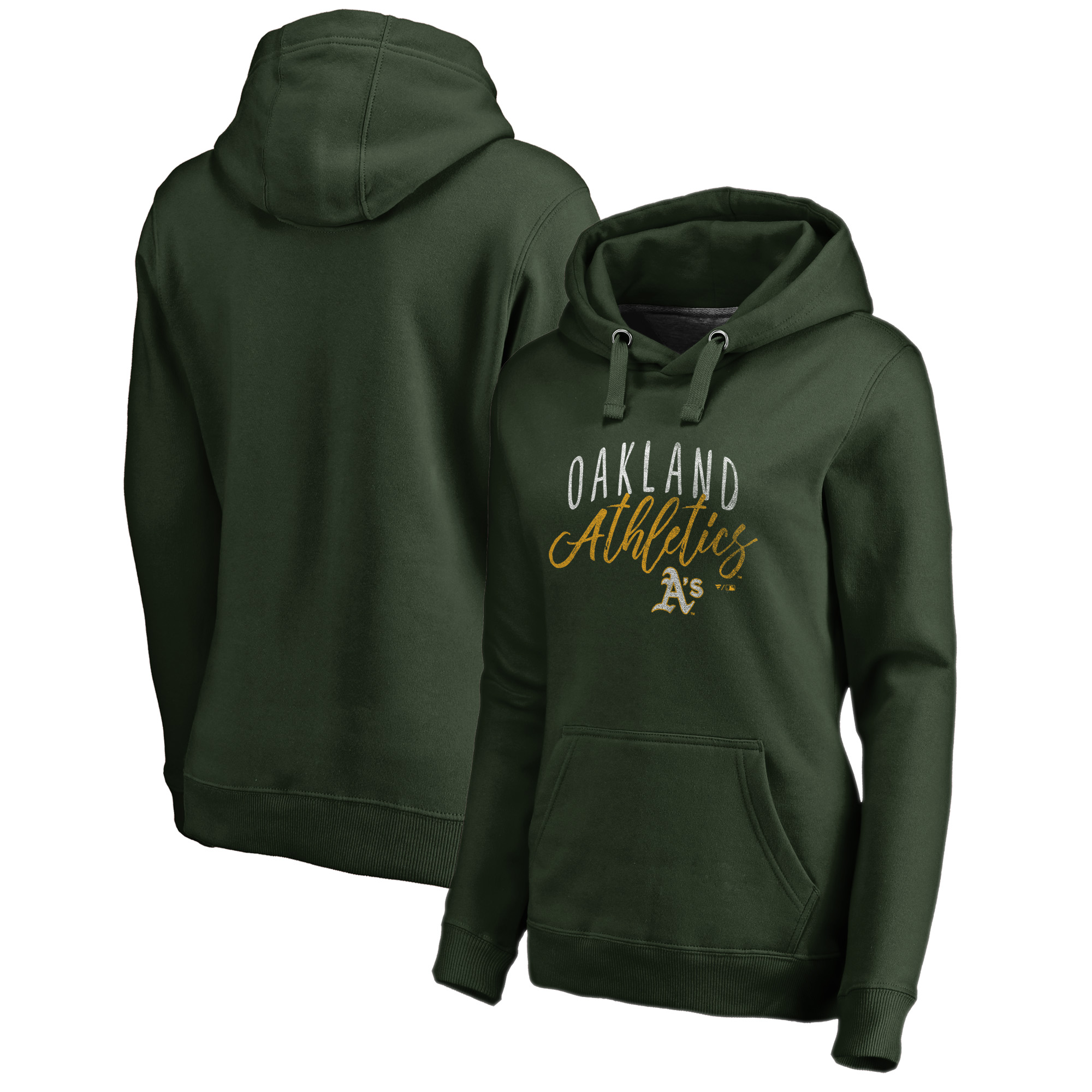Oakland Athletics Fanatics Branded Women's Graceful Pullover Hoodie - Green