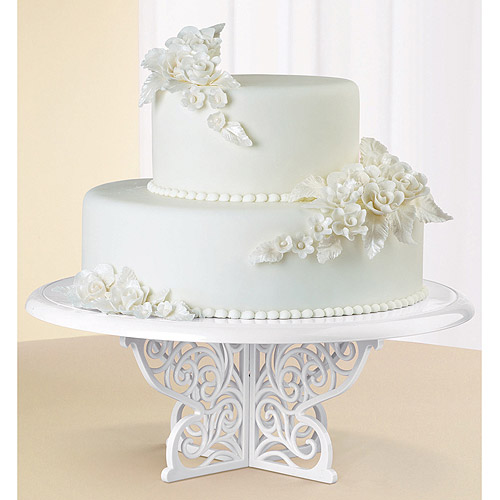 Wilton 307-854 Fancy Scrolls Cake and Cupcake Stand- Discontinued By Manufacturer