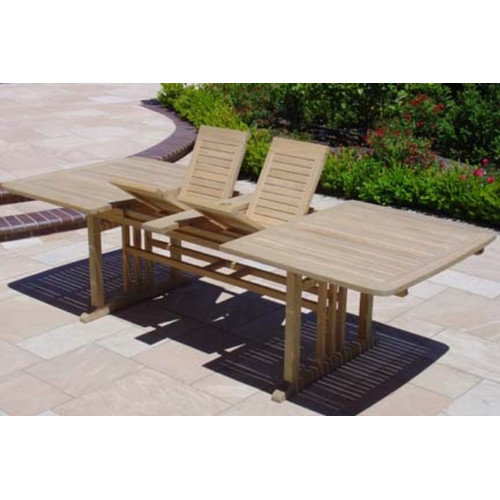 Royal Teak by Lanza Products Teakwood Double Extended Dining Table