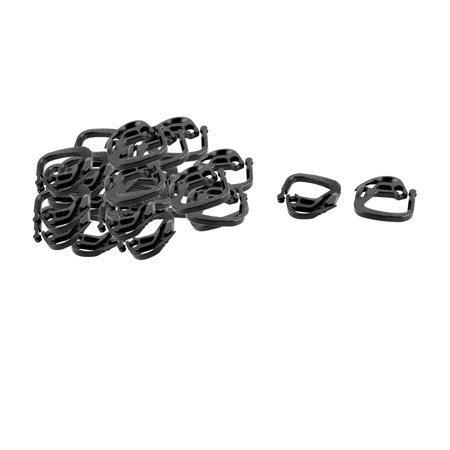 (Garden Yard Plastic Net Mesh String Connecting Hanger Hook Buckle Black 25pcs)
