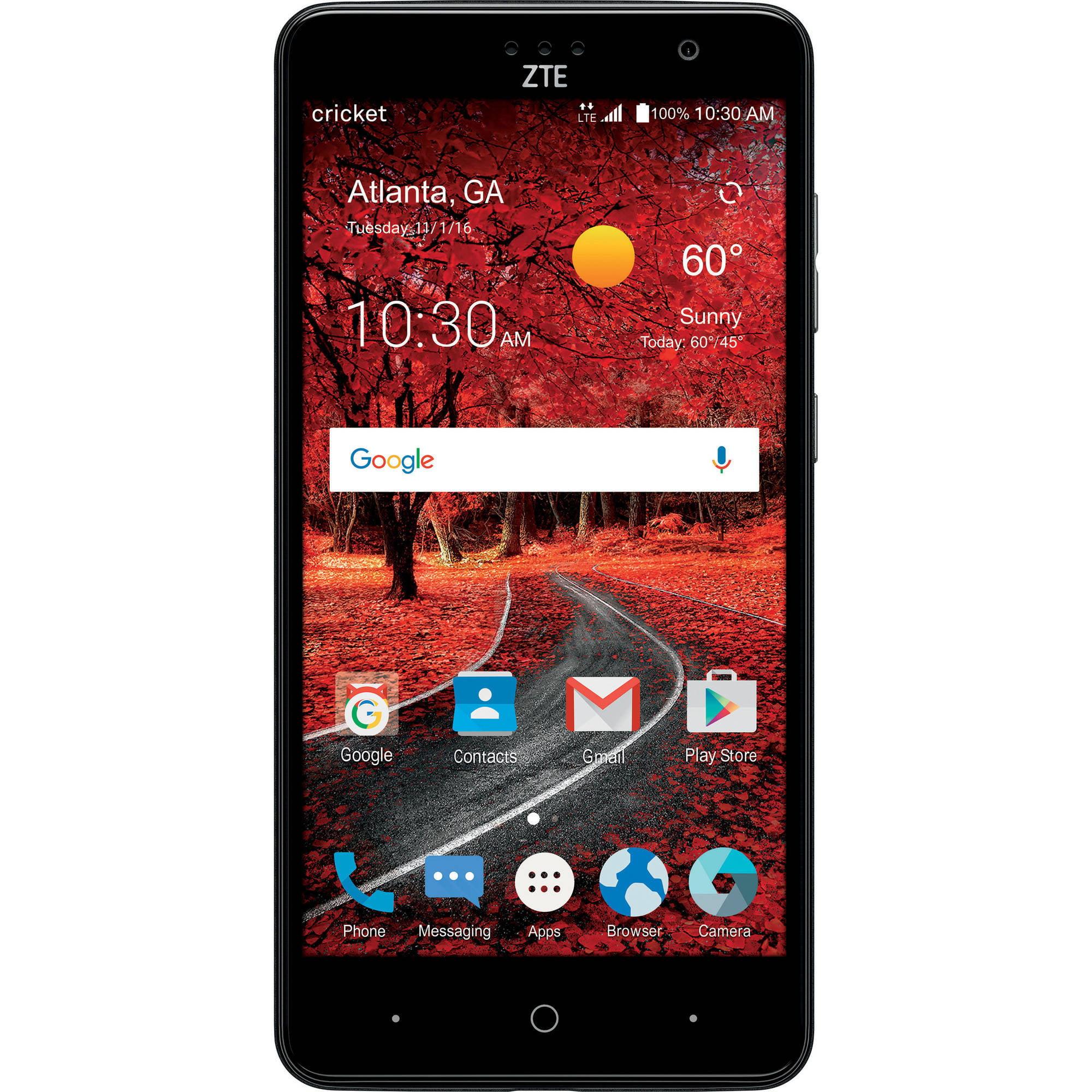 Prepaid telecom operator virgin mobile usa will soon start selling - Cricket Wireless Zte Grand X4 16gb Prepaid Smartphone Gray