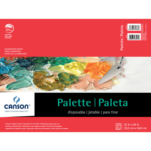 Canson Disposable Palette Pad: 12 x 16 inch