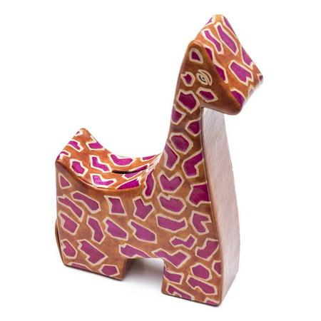 Leather Giraffe Coin Bank - Matr Boomie