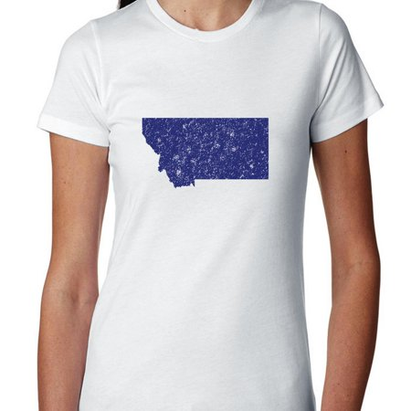 Montana Blue Democratic   Election Silhouette Womens Cotton T Shirt