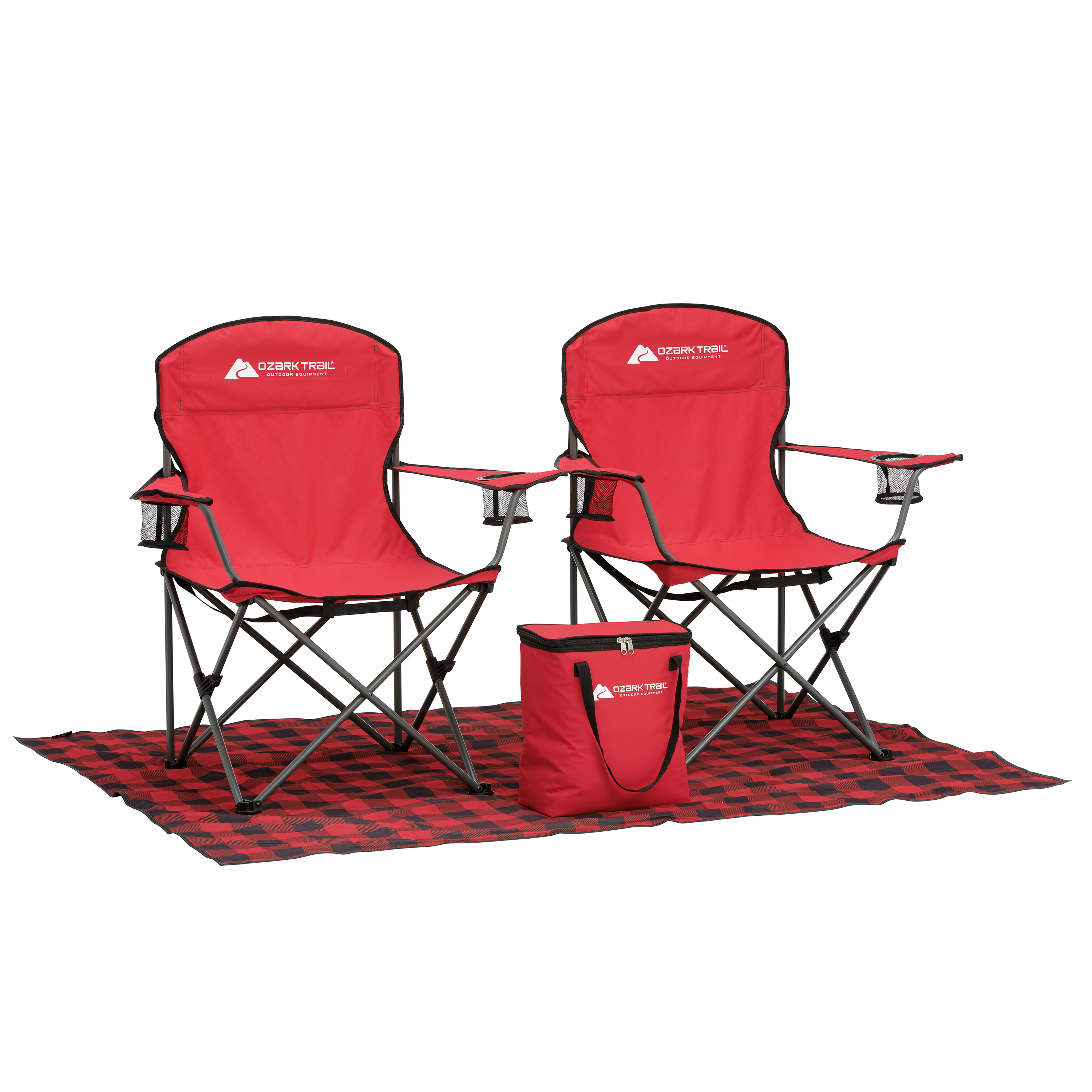 Ozark Trail Mini Tailgate Combo with Footprint, Cooler, and Chairs