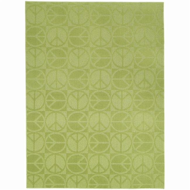 Garland Rug CL 17 RA 0057 19 Large Peace Lime 5 Ft
