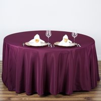 """BalsaCircle 108"""" Round Polyester Tablecloth Table Cover Linens for Wedding Party Events Home Kitchen Dining"""