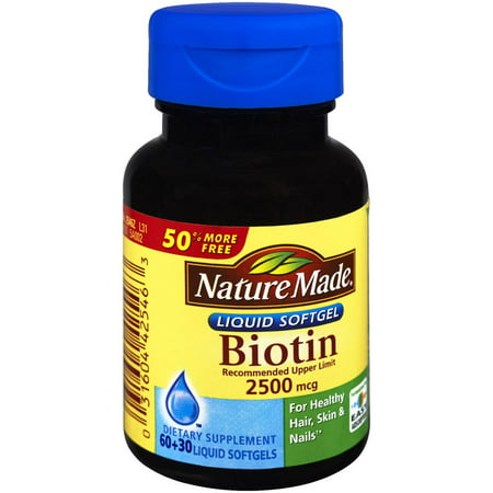 Nature Made Biotin 2500mcg, 90 CT (Paquet de 3)