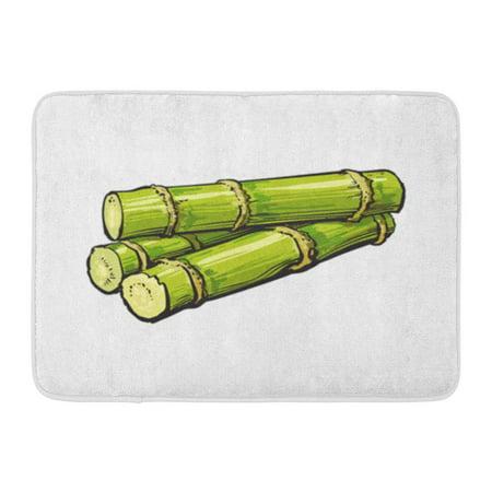 JSDART Pile of Fresh Raw Green Sugar Cane Sketch Realistic Sugarcane Jamaican Rum Doormat Floor Rug Bath Mat 30x18 inch - image 1 of 1