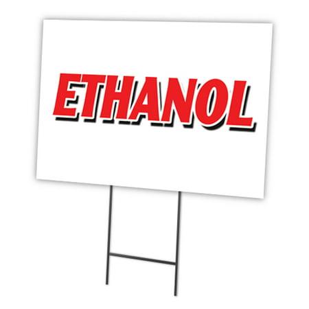 Image of ETHANOL Yard Sign & Stake outdoor plastic coroplast window