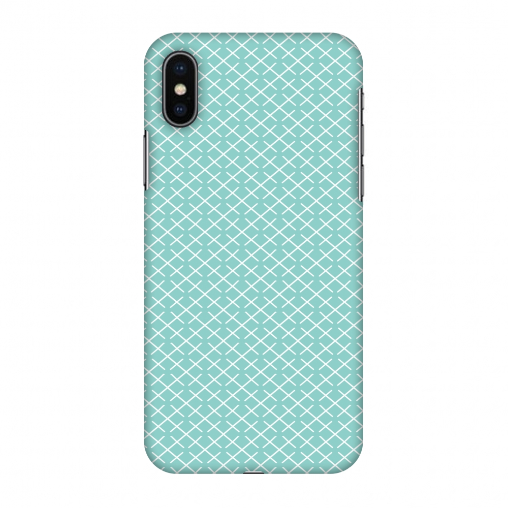 iPhone X Case, Premium Handcrafted Designer Hard Snap on Shell Case ShockProof Back Cover with Screen Cleaning Kit for iPhone X - Checkered In Pastel
