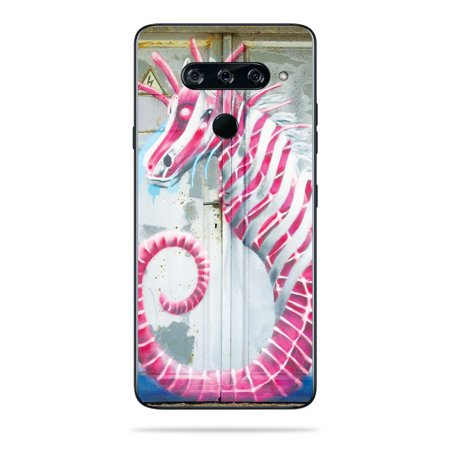 MightySkins Skin for LG V40 ThinQ - Checkered Horses   Protective, Durable, and Unique Vinyl Decal wrap cover   Easy To Apply, Remove, and Change Styles   Made in the USA