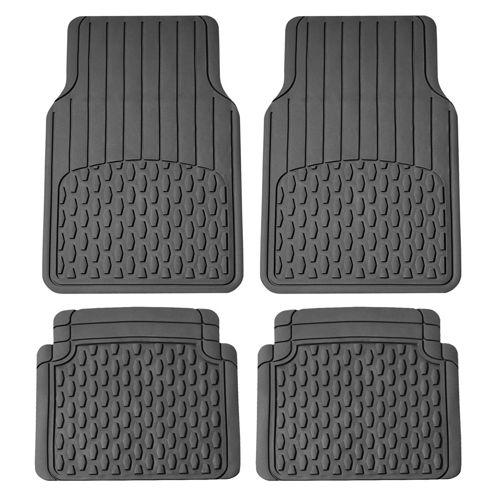 FH GROUP Trimmable All Weather Floor Mats, Gray
