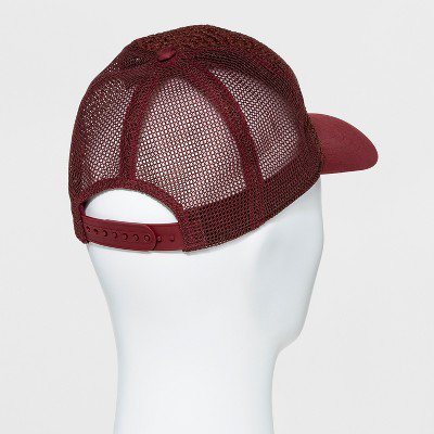 fa79db56c5c Goodfellow   Co™ - Men s Brick House Straw Twill Mesh Baseball Hat -  Goodfellow   Co™ Red One Size - Walmart.com