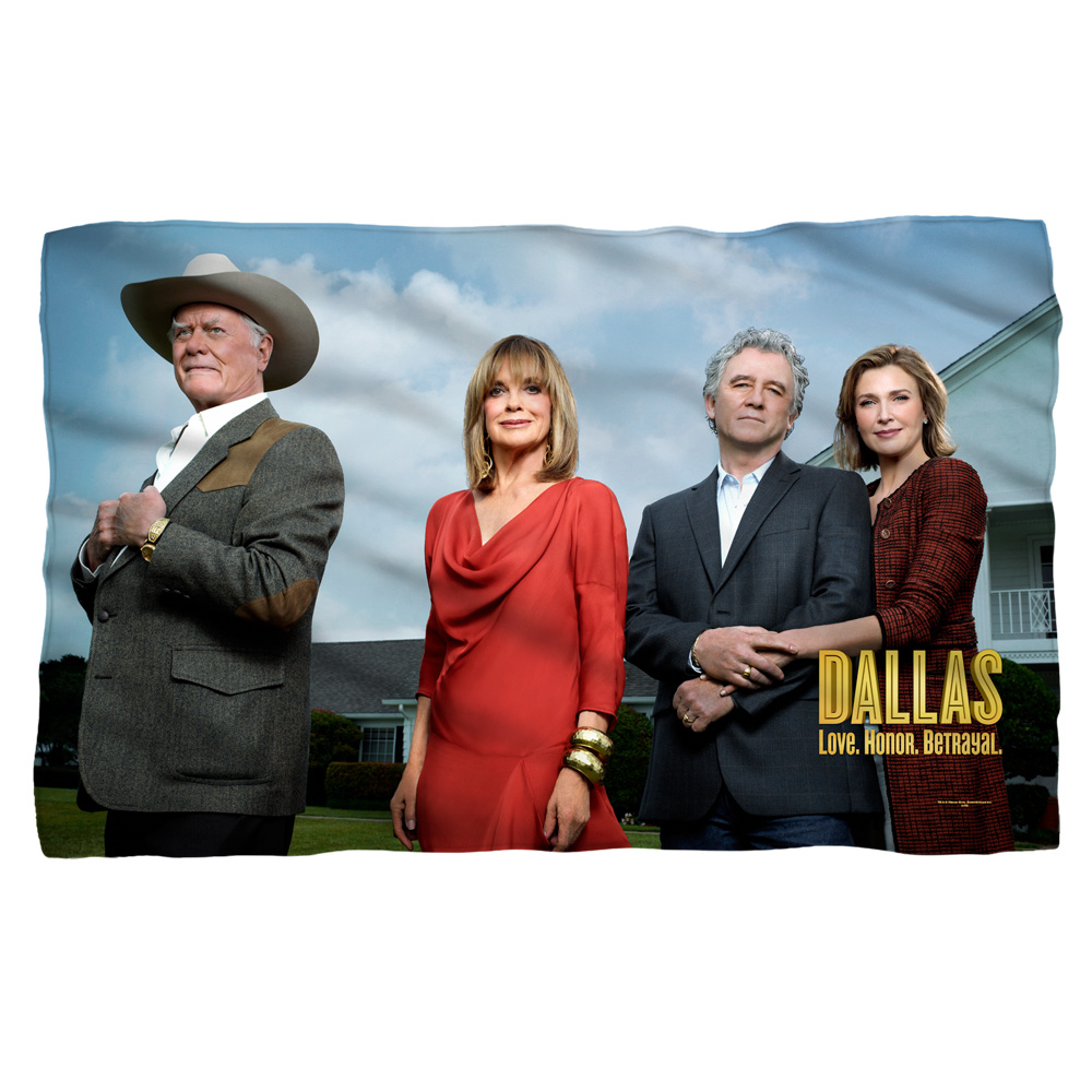 Dallas Cast Fleece Blanket White 48X80