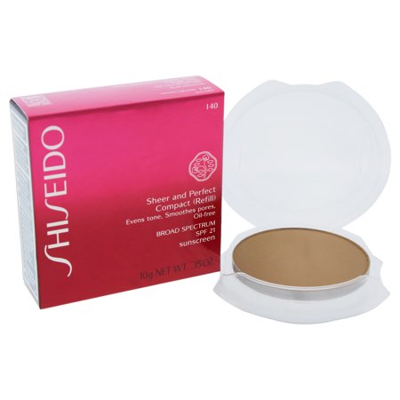 Sheer and Perfect Compact SPF 21 - I40 Natural Fair Ivory by Shiseido for Women - 0.35 oz Compact (R