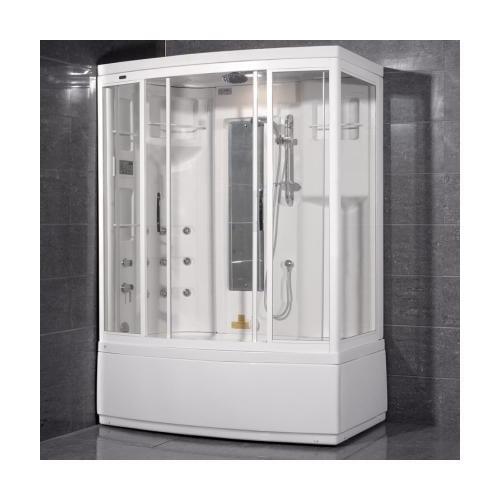 Ariel ZAA208R Ameristeam Whirlpool Steam Shower Enclosure With Whirlpool Massage Jets  Accupressure Body Massage Jets