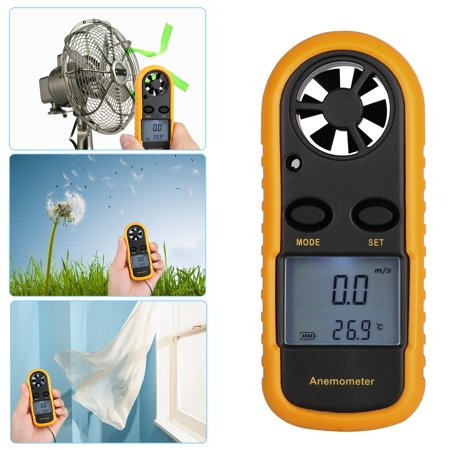 TSV Digital LCD Anemometer, Wind Speed Meter Gauge Air Flow Velocity Measurement Thermometer for Windsurfing Kite Flying Sailing Surfing
