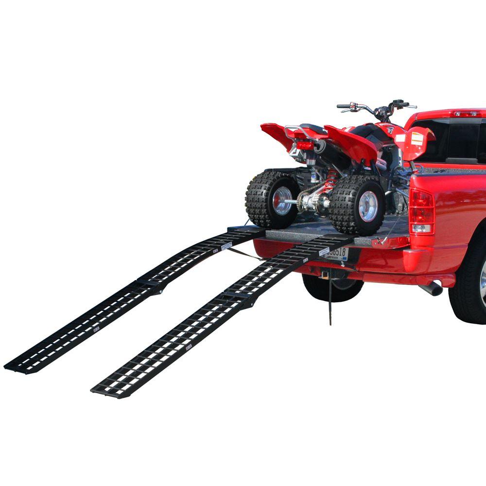 "96"" Black Widow Aluminum Folding Dual Off-Road ATV Loading Ramps"