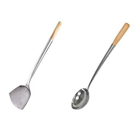 Wok Shovel & Ladle Set, Wood Handle