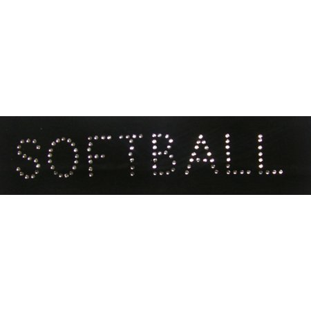 Softball Rhinestone (Kenz Laurenz Cotton Headband Soft Stretch Headbands Sweat Absorbent Elastic Head Band Black Rhinestone Softball)