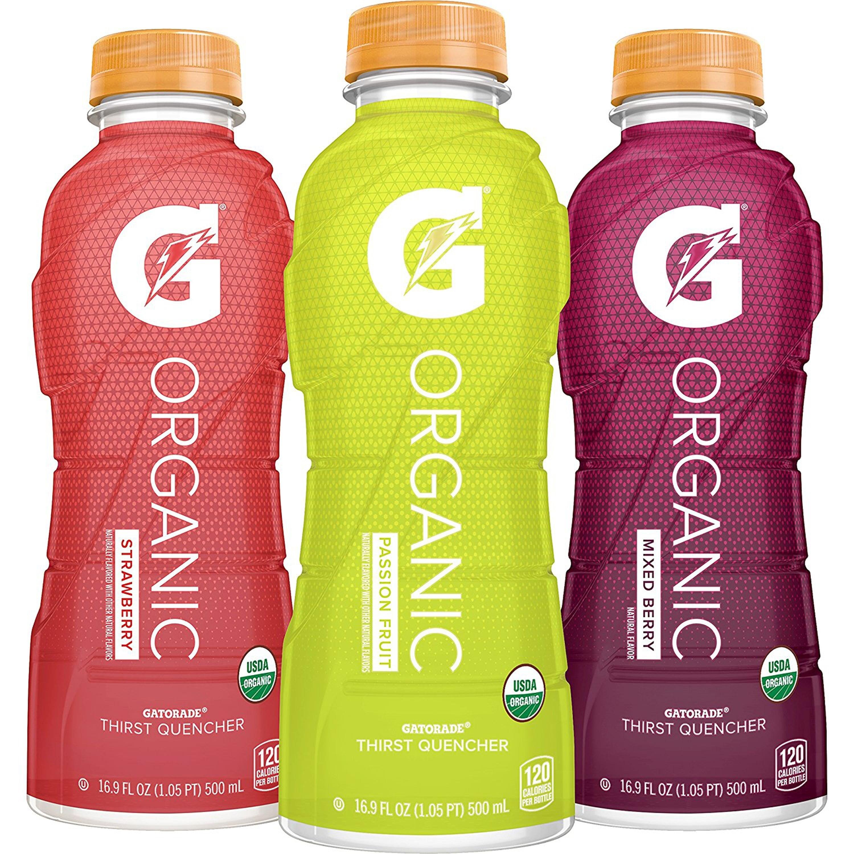Gatorade Sports Drink, Organic Variety Pack, 16.9 Fl Oz, 12 Ct