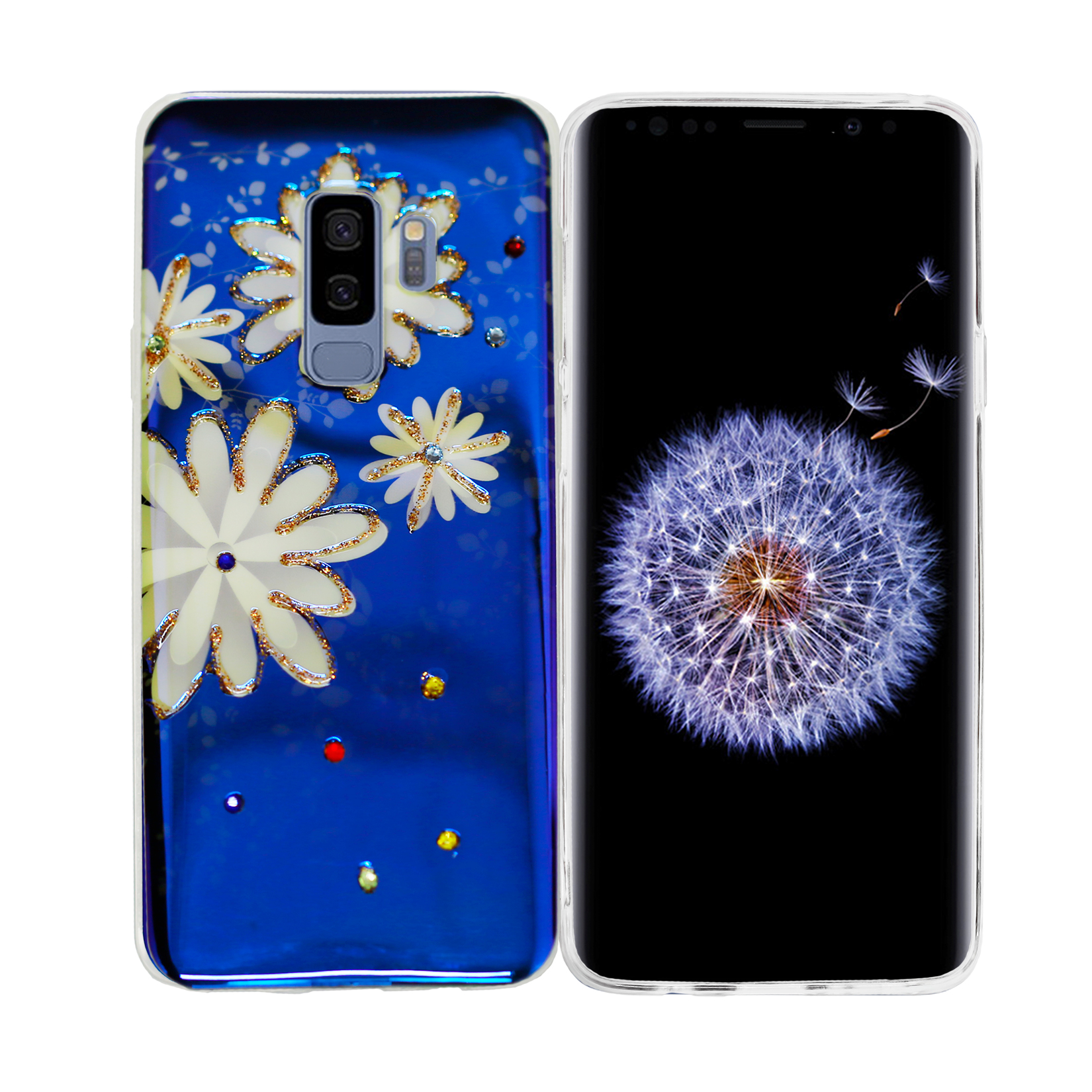 S9 Plus Soft Plastic Fashion Design Case -Big Flower