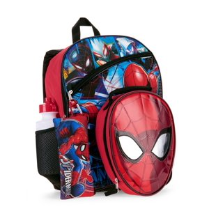 Spider-Man 5 PC Backpack w| Lunch Bag