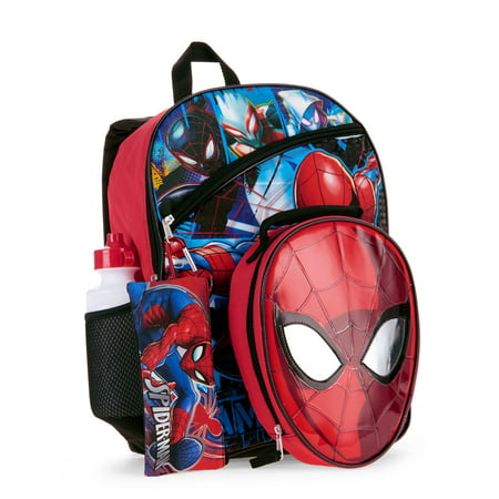 Spider-Man 5 PC Backpack w/ Lunch Bag