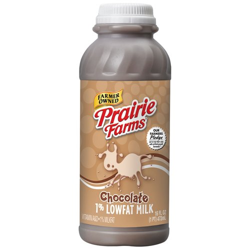 Prairie Farms 1% Lowfat Chocolate Milk, 16 oz
