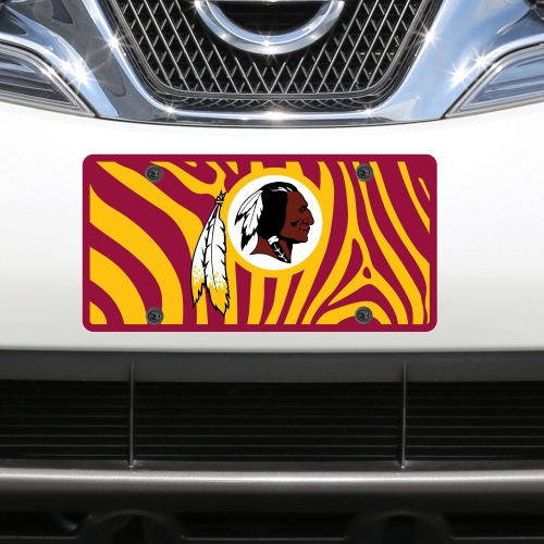 Washington Redskins Zebra Acrylic Cut License Plate - No Size