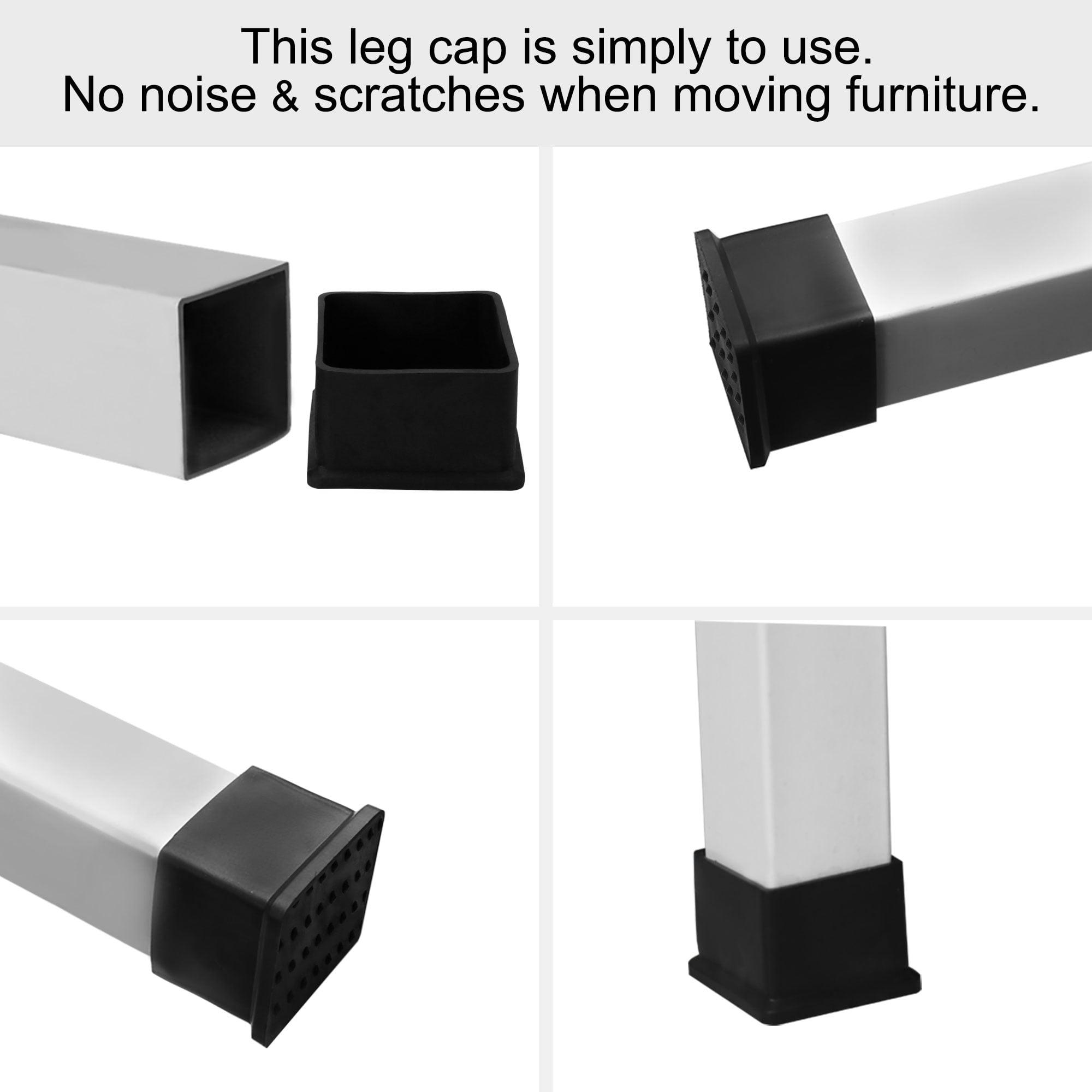 "Desk Table Leg Caps End Tip Home Furniture Protector 30pcs 2""x2"" (50x50mm) - image 1 de 7"