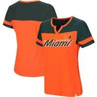 Miami Hurricanes Colosseum Women's Coach V-Notch T-Shirt - Orange