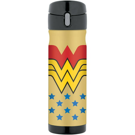 THERMOS Vacuum Insulated Stainless Steel Direct Drink Beverage Bottle, 16-Ounce, Wonder Woman