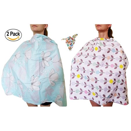 Holm Baby Nursing Cover TWO (2) pack, Breastfeeding Cover up, and Breast Pump Cover for Privacy. A Cotton Breathable Baby Nursing Wrap. Privacy Nursing Cover for Mom and Baby.