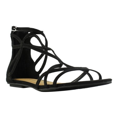 67a65d60a Chinese Laundry - Chinese Laundry Womens Black Gladiator Sandals Size 8.5  New - Walmart.com
