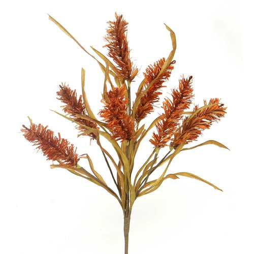 Gracie Oaks Decorative Raffia Fall Bush Desktop Flowering Grass (Set of 2)