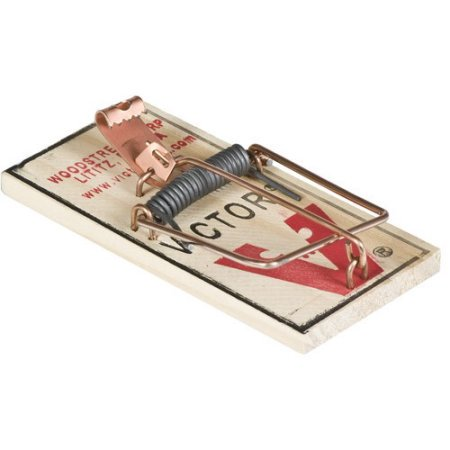 (3 Pack) Victor M154 Metal Pedal Mouse Trap, Ct 4