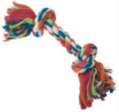 "PetRageous 13"" 2 Knot Rope Bone Toy Durable Long Lasting ..."