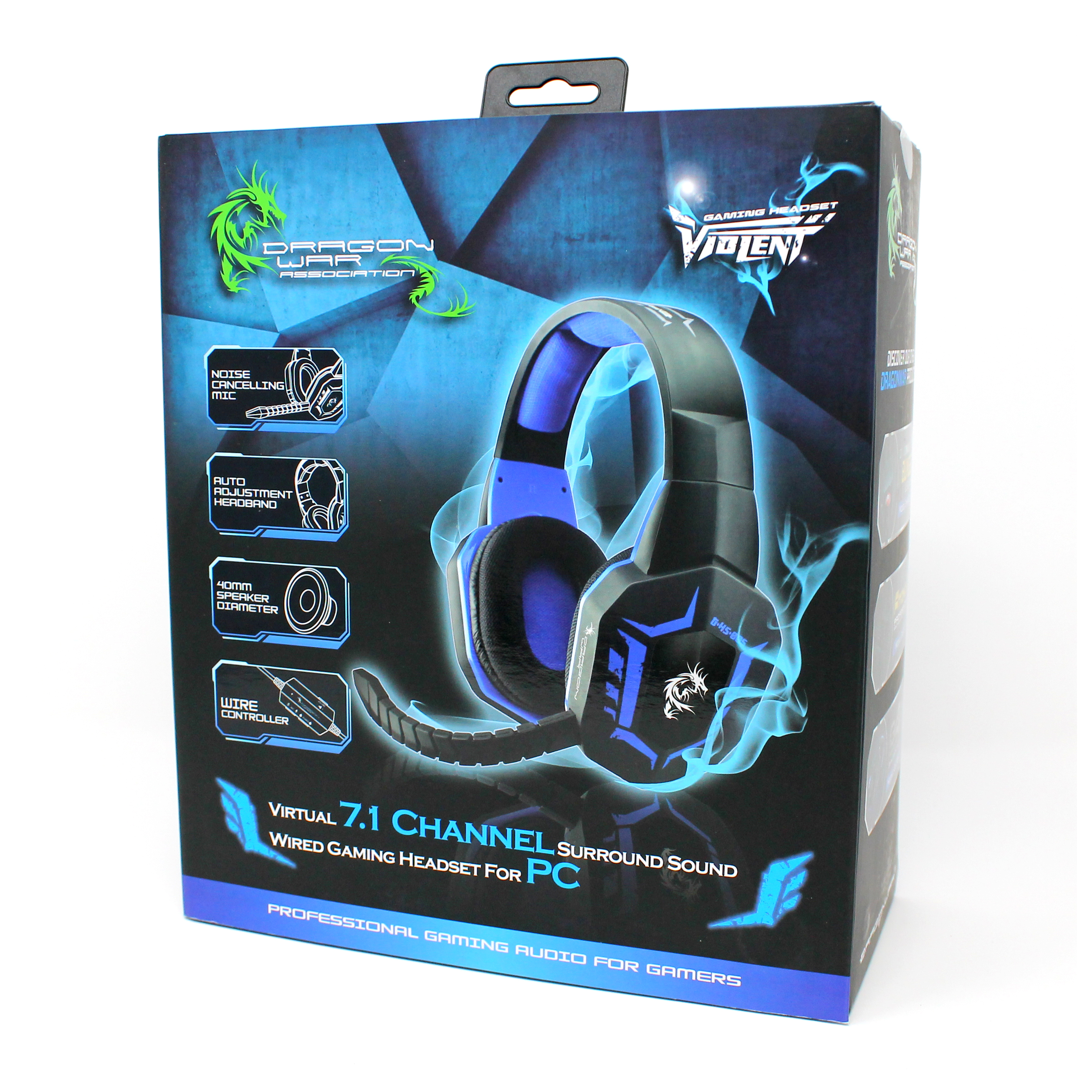 Dragonwar Violent GHS-005 7.1 Virtual Surround Sound Wired Gaming ...