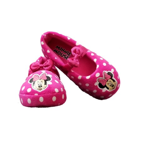 Minnie Mouse Pink Toddler Girls Bow Slippers Loafer House Shoes for $<!---->