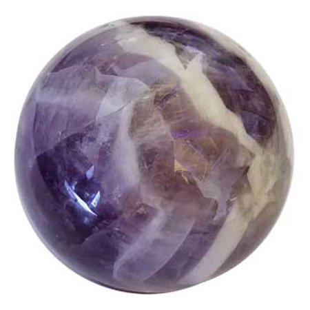 RBI Fortune Telling Toys 40mm Amethyst Chevron Sphere Magical Crystal Healing Enlightenment