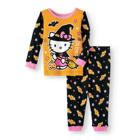Hello Kitty Halloween glow-in-the-dark cotton tight fit pajamas, 2-piece set (baby girls) - Glow In The Dark Pajamas