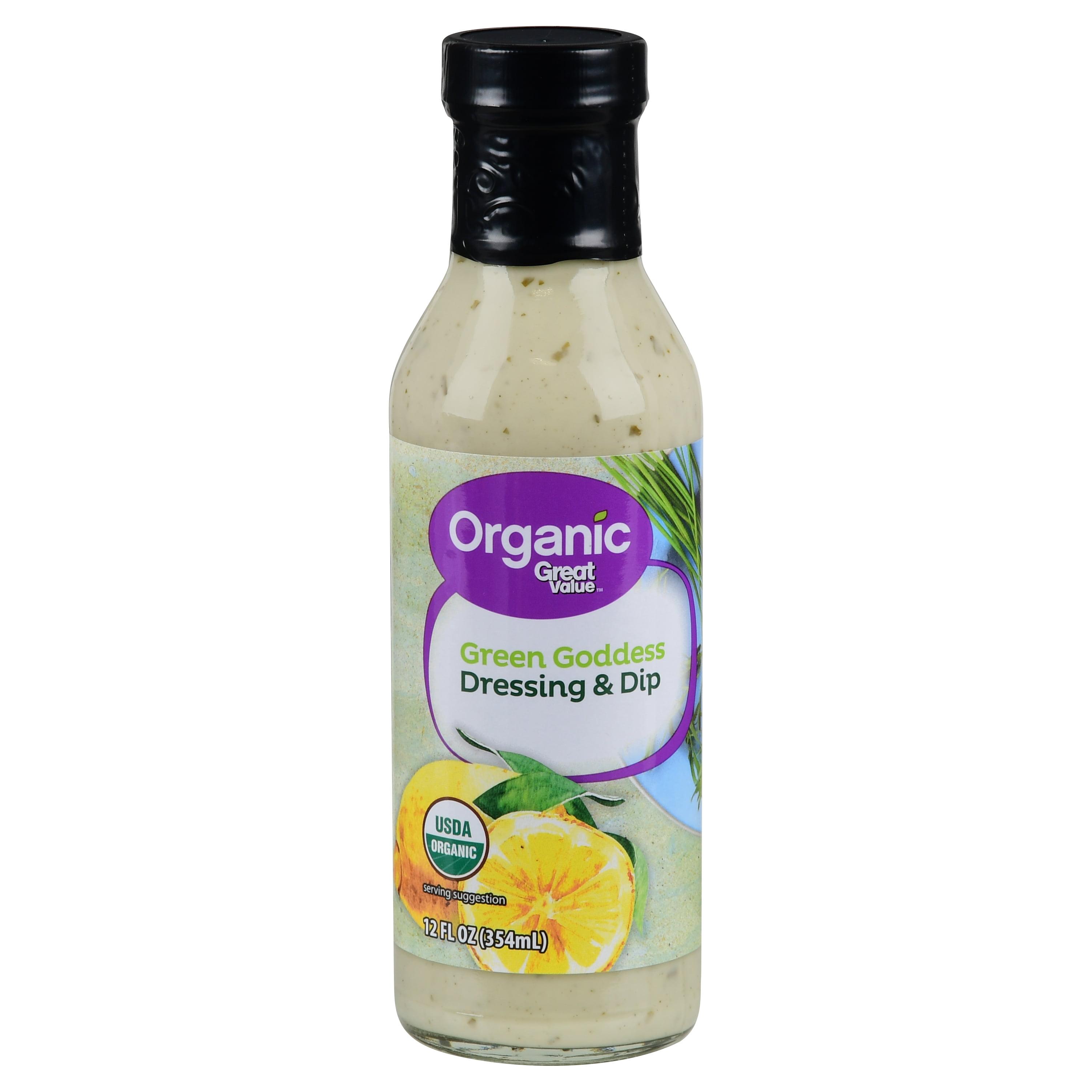 (2 Pack) Great Value Organic Green Goddess Dressing & Dip, 12 fl oz
