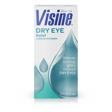 Artificial Tears Ophthalmic Solution - Visine Dry Eye Relief Lubricating Eye Drops, 0.5 fl. oz