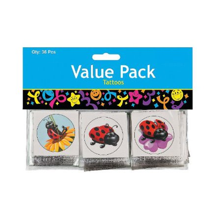 Lady Bug Tattoos (Pack of 36 Ladybug Tattoos -)
