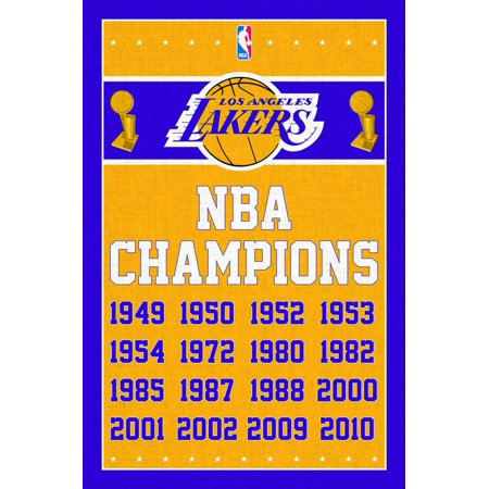 Los Angeles Lakers Logo Poster - Los Angeles Lakers - Champions 13