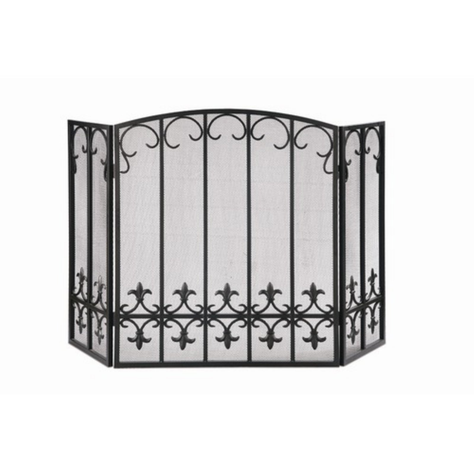 Fleur de Lis Cage Fireplace Screen