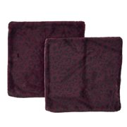 """Noble House Daegan Decorative Throw Pillow Cover, 20"""" x 20"""", Purple and Black, 2 Pack"""