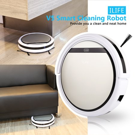 ILIFE V5 Robot Vacuum Cleaner- Powerful Suction , Auto Vacuum Microfiber Dust Cleaner Automatic Sweeping Machine Best Robot Vacuums for Pet Hair, Carpet,